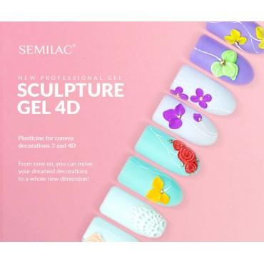 Semilac sculpture UV gél 4D  Peach 5 g