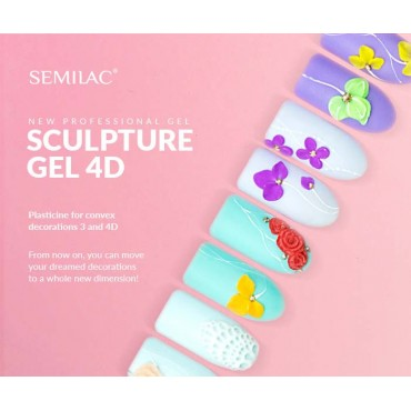Semilac sculpture UV gél 4D  White 5 g