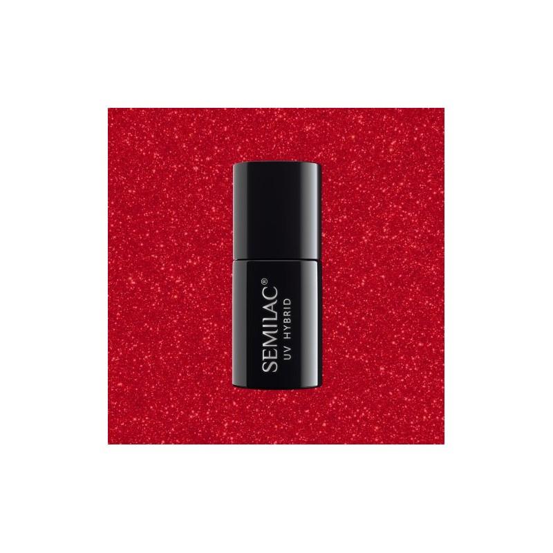 Semilac - gél lak 025 Glitter Red 7ml