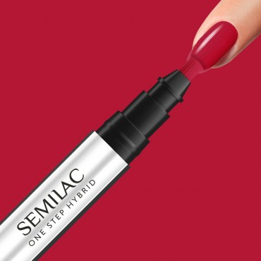 Semilac One Step gél lak S550 Pure Red