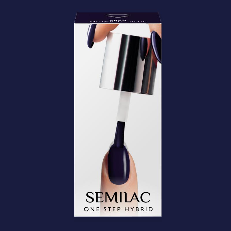 Semilac One Step gél lak S890 Midnight Blue 5ml