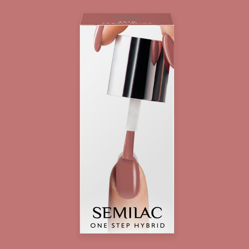 Semilac One Step gél lak S240 Peach Beige 5ml