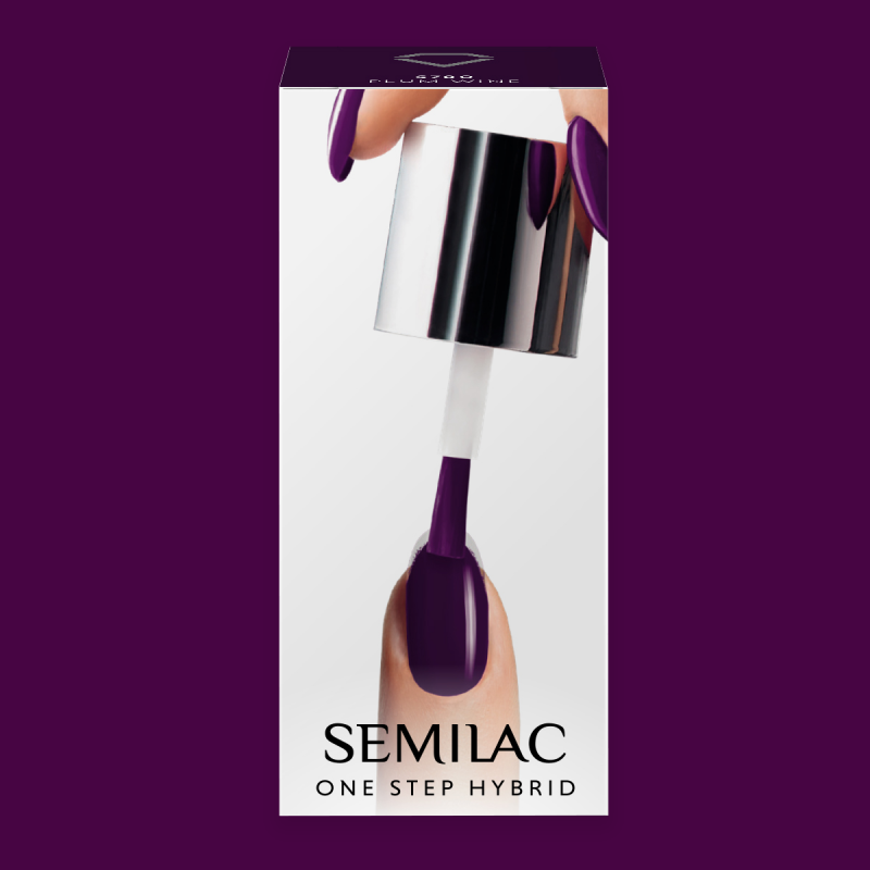 Semilac One Step gél lak S780 Plum Wine 5ml
