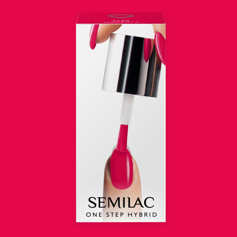 Semilac One Step gél lak S680 Magenta 5ml