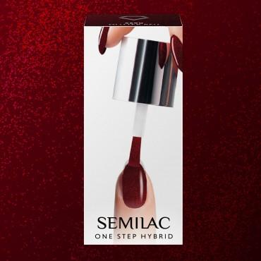 Semilac One Step gél lak S590 Glitter Red 5ml