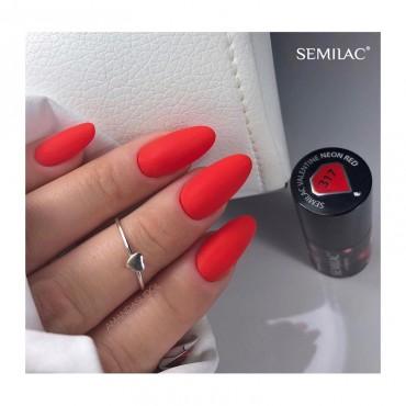 Semilac - gél lak 317 - Neon Red